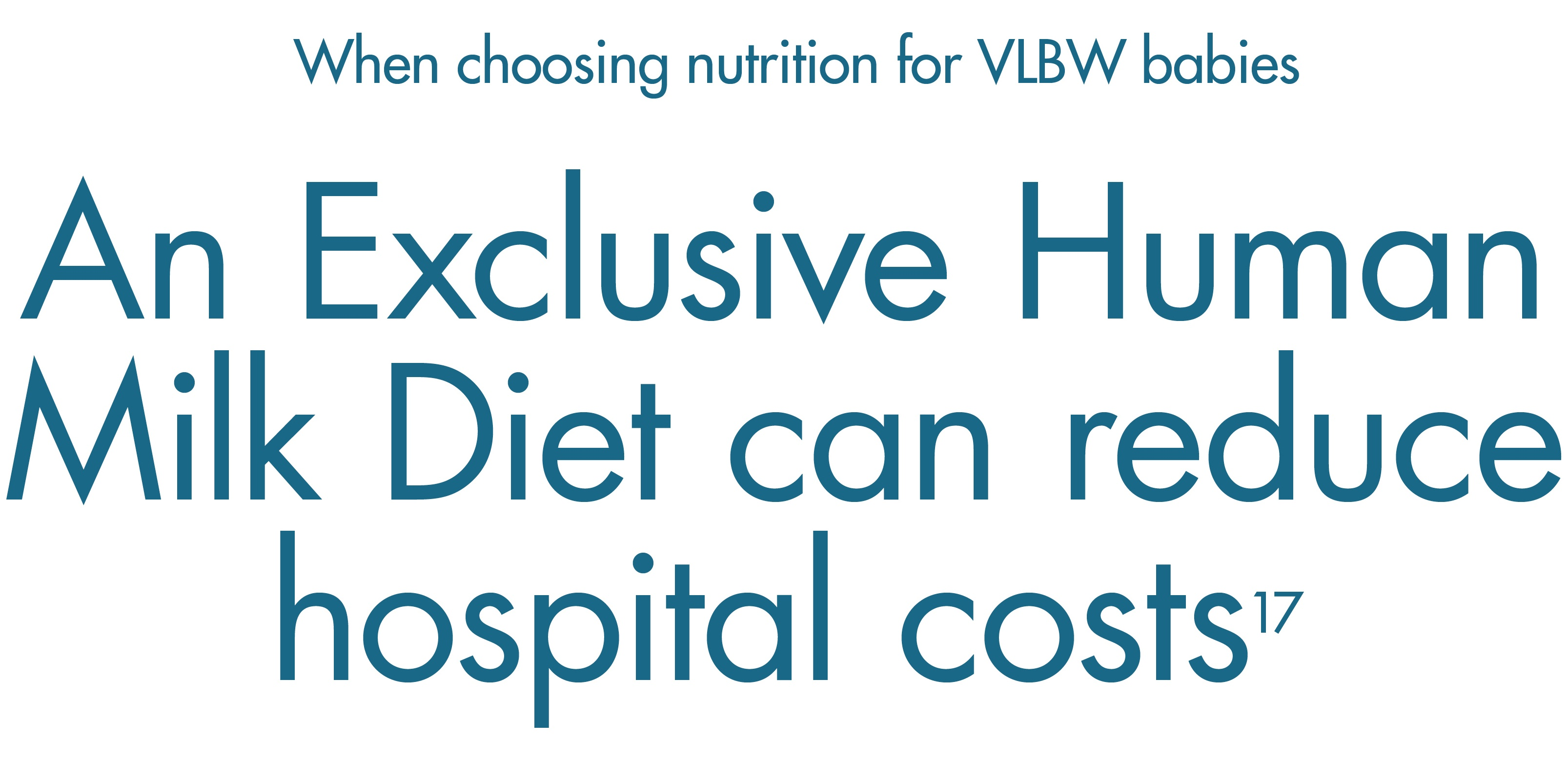 An exclusive human milk diet, with Prolacta, can reduce hospital costs for VLBW infants