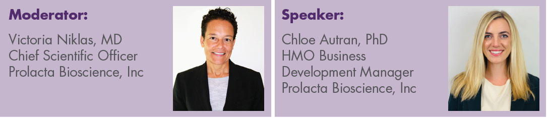 Moderator Dr. Victoria Niklas and Speaker Dr. Chloe Autran will be presenting on HMO